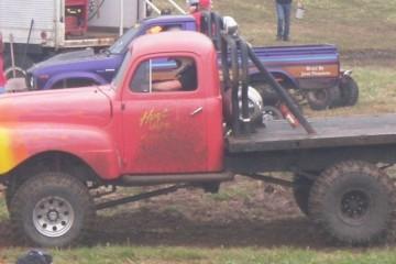 Mud Bog Racing Man Makes Fire