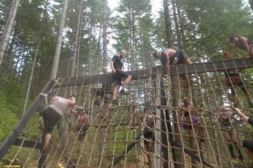 Warrior Dash Rope Climb