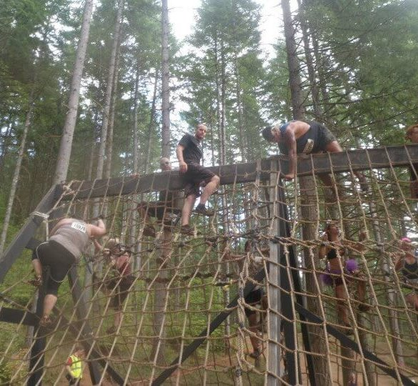 Warrior Dash Rope Climb
