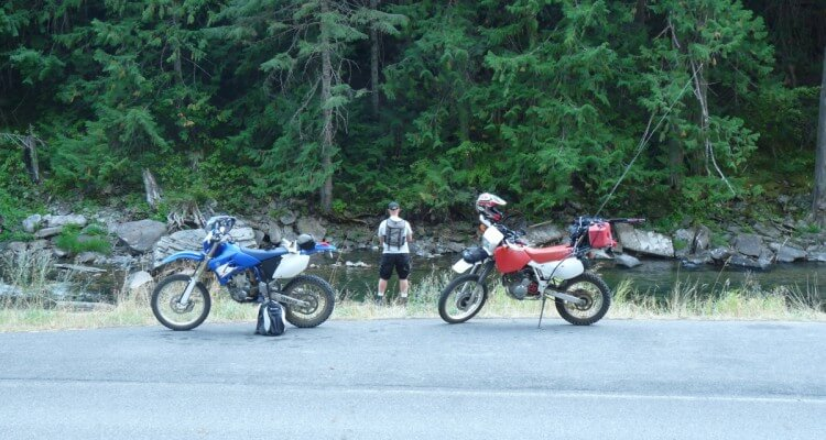Motorcycles and Fly Fishing on the St. Joe River