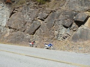 You can pull off the road most anywhere on a motorcycle.