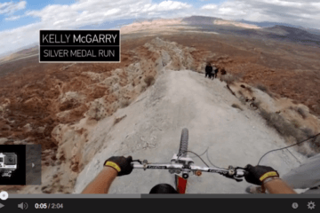 Mountain biker Kelly McGarry busts out a 72-foot backflip over a canyon after riding a knife-like ridge.