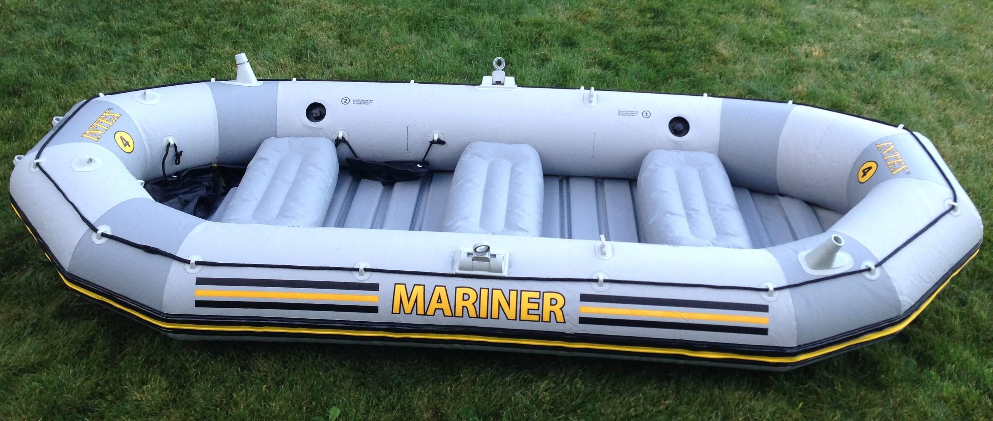 Amazon Intex 4 Person Mariner Inflatable Boat Set