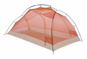 This best backpacking tent image shows the Big Agnes Copper Spur 2 Platinum 2-person tent without a rain fly