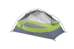 This best backpacking tent image shows the NEMO Dagger 2-person tent without a rain fly.
