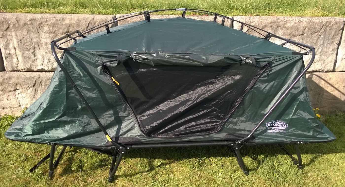 Using a Tent-Cot Combo & Kamp-Rite Oversize Tent Cot Review - Man Makes Fire