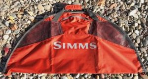 This gift ideas for fly fishermen image shows the Simms Taco Bag for stockingfoot waders and boots.
