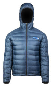 This down jacket photo shows the mens Feathered Friends Eos Down Jacket.