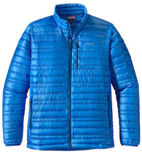 This best down jacket photo shows the men's Patagonia Ultralight Down Jacket.