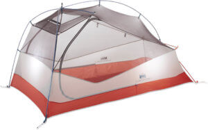 This best backpacking tents image shows the redesigned REI Co-op Quarter Dome 2 tent