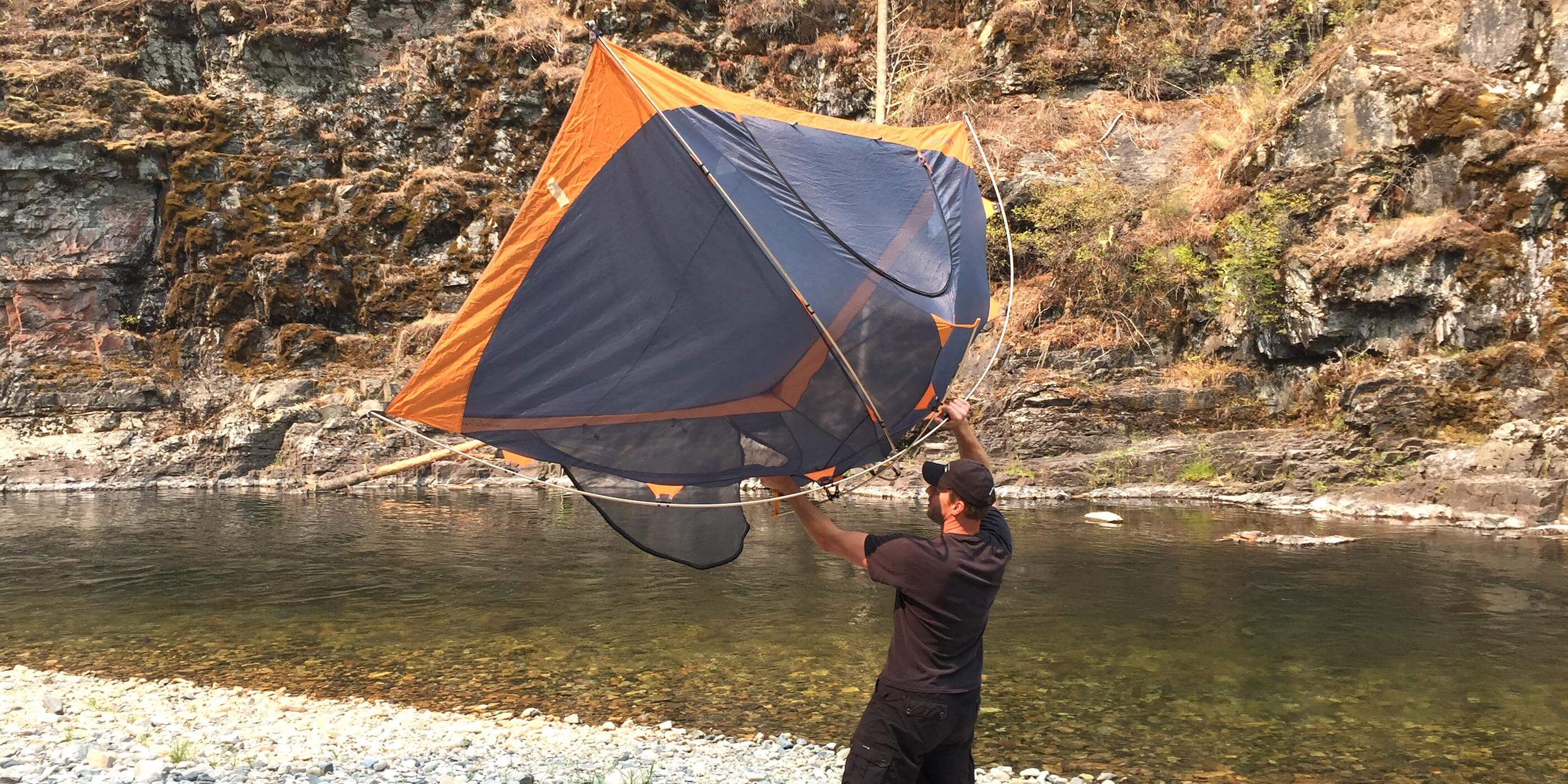 This is an image of the best backpacking tent freestanding construction