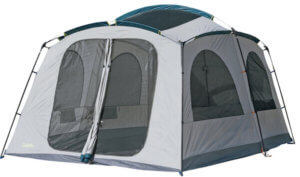 This camping tent photo shows the Cabela's Hybrid Cabin Tent.