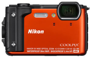 This best waterproof camera image shows the Nikon COOLPIX W300 rugged digital camera.