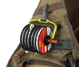 This fly fishing accessories stocking stuffer gift idea image shows the Fishpond Headgate Tippet Holder.