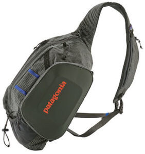 This is a product photo of the Patagonia Steal Atom Sling Pack.