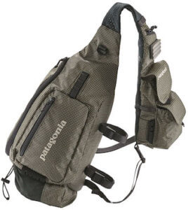 This best sling pack photo shows the Patagonia Vest Front Sling Pack product on a white background.