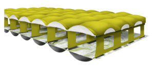 This best backpacking pad photo shows a cross section of the Nemo Tensor air mattress.