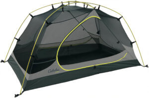 This backpacking tent image shows the Cabela's Axis 2-person tent