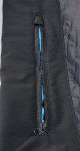This image shows the accent colors in the KÜHL FIREFLY jacket.