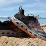 This best water shoe image shows the excellent Columbia Drainmaker III water shoe at Lake Tahoe.