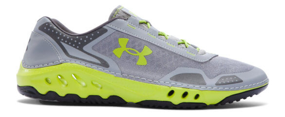 This best water shoe image shows the Men's UA Drainster fishing shoe.