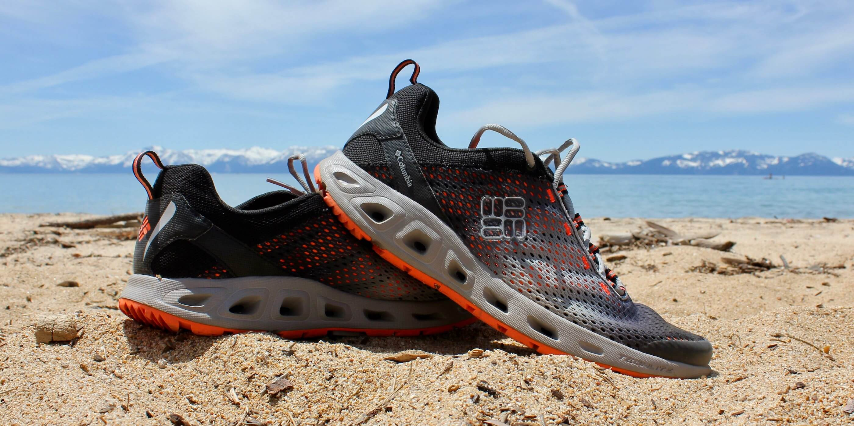 f142863aec7 This best water shoe image shows the excellent Columbia Drainmaker III  water shoe at Lake Tahoe
