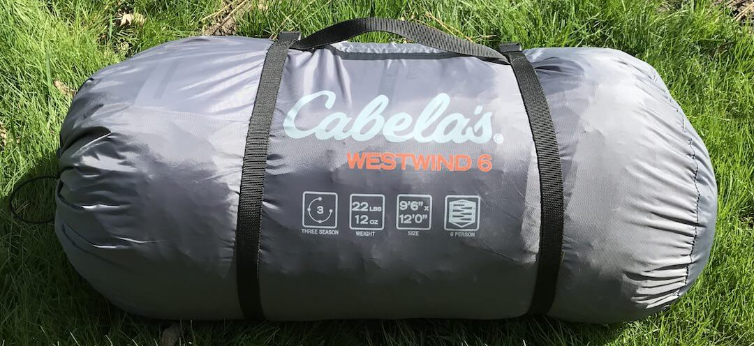 This image shows the packed Cabelau0027s West Wind Dome Tent. & Cabelau0027s West Wind Dome Tent Review - Man Makes Fire