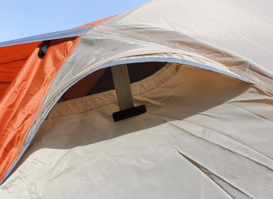 This is a photo of a vent in the rain fly. & Cabelau0027s West Wind Dome Tent Review - Man Makes Fire