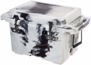 This image shows the 40-quart Cabela's Polar Cap Equalizer Cooler on a white background.