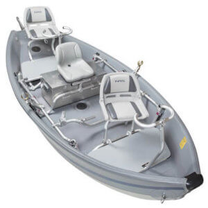 This fly fishing gift guide idea shows the NRS Freestone Drifter inflatable drift boat.