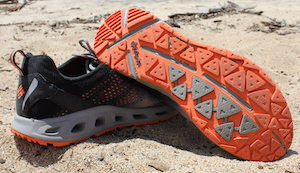 This best fly fishing gift idea image shows the Columbia Drainmaker III water shoes.