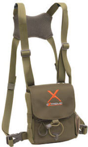 This gift for deer hunters, elk hunters, and turkey hunters shows the Alps OutdoorZ Extreme Bino Harness X binocular harness case.