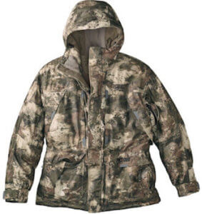 This best hunting gift guide image shows the Cabela's MT050 Whitetail Extreme Parka.