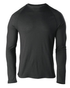 This backpacking gift photo shows the Cabela's Men's Merino Wool Baselayer Top.