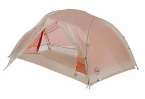 This backpacking gift idea shows the Big Agnes Copper Spur 2 Backpacking Tent.