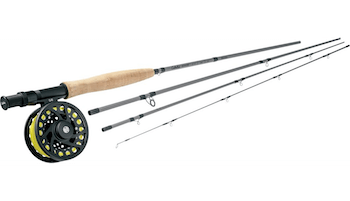 This fly fishing gift idea shows the Cabela's Bighorn Fly Combo.