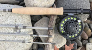 This best fly fishing gift idea shows the Cabela's Bighorn Fly Combo fly rod and reel.