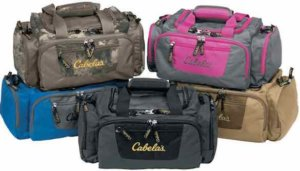 This image shows the Cabela's Catch-All Gear Bag hunting gift idea.
