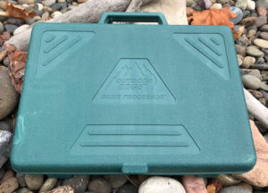 This image shows the Outdoor Edge Game Processor Kit case.
