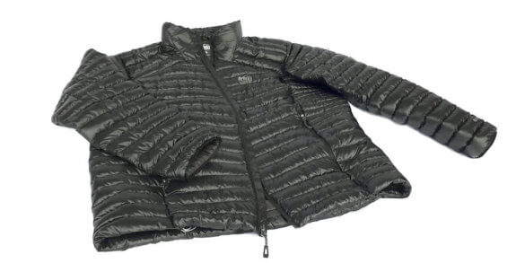 This image shows the men's REI Magma 850 down jacket in black.