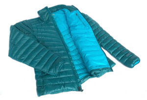 This image shows the women's REI Magma 850 down jacket.