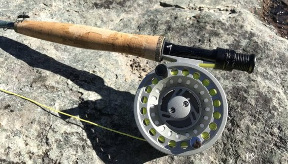 This image shows the Cabela's Synch fly reel.