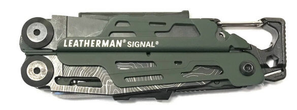 This image shows the Leatherman Signal Topo Multi-Tool in the closed position.
