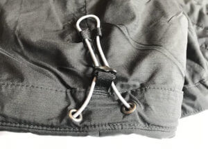 This image shows the drawcord on the REI Activator SI Jacket.