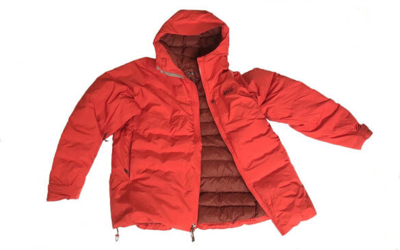 This image shows the men's REI Co-op Stormhenge 850 Down Jacket on a white background.