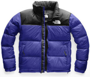 This best down jackets photo shows The North Face 1996 Retro Nuptse Down Jacket in the men's Aztec Blue.
