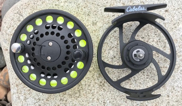 This photo shows the Cabela's Bighorn Reel.