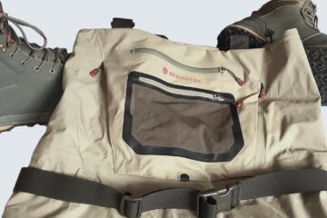 This image shows the Redington Sonic-Pro HD Wader with the Redington Prowler Wading Boot on a white background.