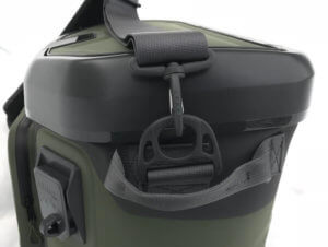 This image shows the side of the OtterBox Trooper 20 cooler.