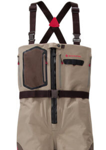 This image shows the Redington Sonic-Pro HDZ zippered waders.